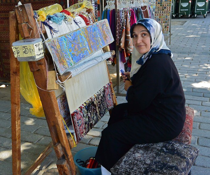 Hand embroidery, near the Blue Mosque